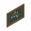 chalkboard, game, hockey, ice, isometric, leisure, strategy icon