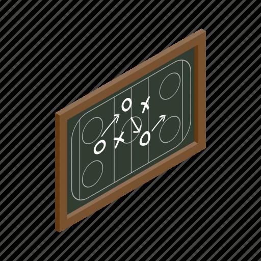 chalkboard, game, hockey, ice, isometric, leisure, strategy icon