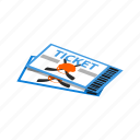 concept, game, hockey, isometric, price, sport, tickets icon