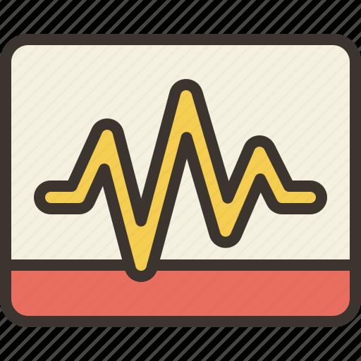 activity, diagram, graph, monitor icon