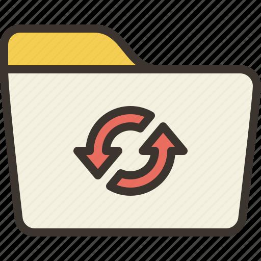 documents, folder, storage, sync icon