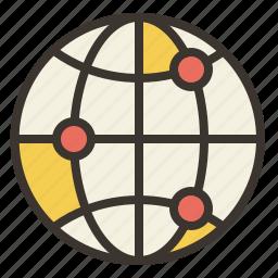 communication, earth, globe, internet, world icon