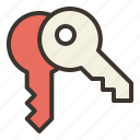 keys, padlock, safety, secure, unlock icon