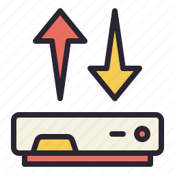 connection, data, hosting, network, rack, server, sync icon