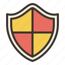 firewall, lock, privacy, security, shield icon