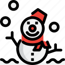 cold, hokkaido, snowman, winter icon