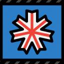 flag, hokkaido, japan, travel icon
