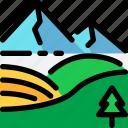 hokkaido, japan, landscape, mountain, snow, travel icon