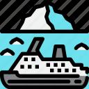 breaking, cruise, hokkaido, ice, sea icon
