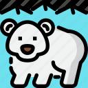animal, bear, hokkaido, snow bear icon