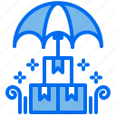 box, cardboard, delivery, logistic, safety, umbrella
