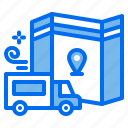 delivery, location, logistic, map, shipping, truck icon