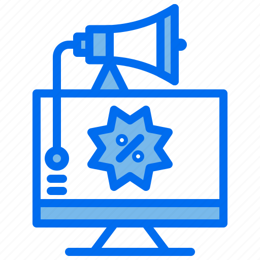 advertising, computer, discount, marketing, shopping icon