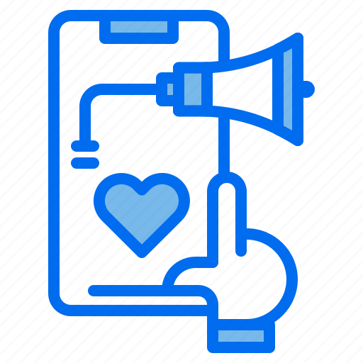 advertising, love, marketing, megaphone, phone, select icon