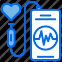 diagnose, heart, phone, pulse