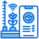 agriculture, control, growth, performance, phone, plant, wifi icon