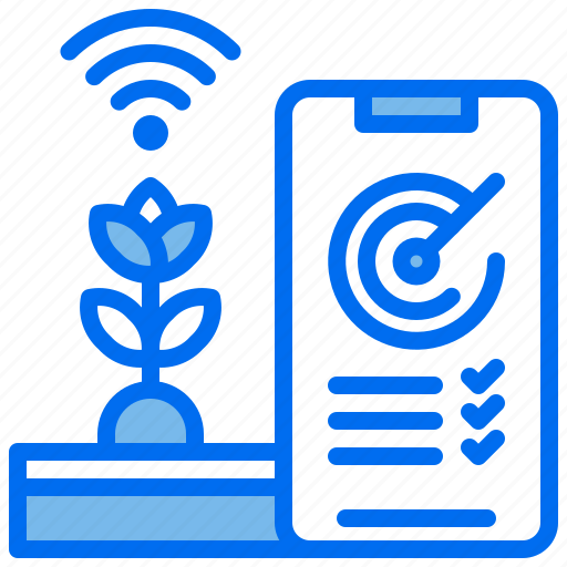 agriculture, growth, internet, performance, phone, plant, wifi icon