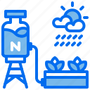 agriculture, irrigation, plant, rain, reservoir, soil, water icon