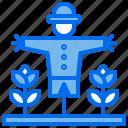 agriculture, farm, plant, scarecrow, soil icon