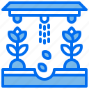 agriculture, greenhouse, plant, seed, soil, sprinkling icon