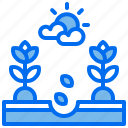 agriculture, plant, seed, seedling, soil icon