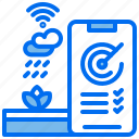 agriculture, performance, phone, plant, rain, wifi icon