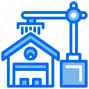 build, crane, estate, house, machine, office, real icon