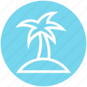 beach, coconut tree, holiday, palm, sea, summer, tree