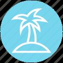 beach, coconut tree, holiday, palm, sea, summer, tree icon