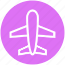 airplane, airport, flight, holiday, plane, tourism, travel icon