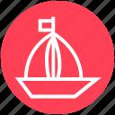 boat, holiday, sail, travel, trip, vacation, yacht icon