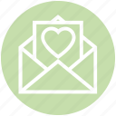 envelope, heart, letter, love, romantic, valentine icon