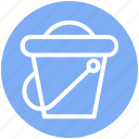 beach, beach bucket, holiday, sand, sand bucket, sandbox icon