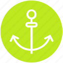 anchor, holiday, marine, ship, stop, vessel, yumminky icon