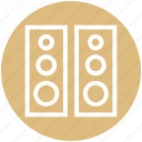 audio, entertainment, loudspeakers, sound, speakers, stereo, woofers icon