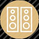 audio, entertainment, loudspeakers, sound, speakers, stereo, woofers