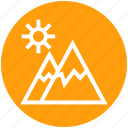environment, holiday, landscape, mountain, mountains, sun, travel