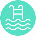 holiday, ladder, pool, swimming, swimming pool, tourism, water icon