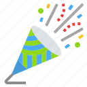 birthbay, celebrate, confetti, holiday, party icon