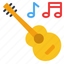 guitar, instrument, music, song, sound