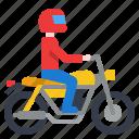 holiday, motorcycle, ride, transportation, travel icon