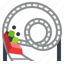 amusement, fun, holiday, park, rollercoaster icon