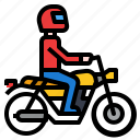 holiday, motorcycle, ride, transportation, travel icon