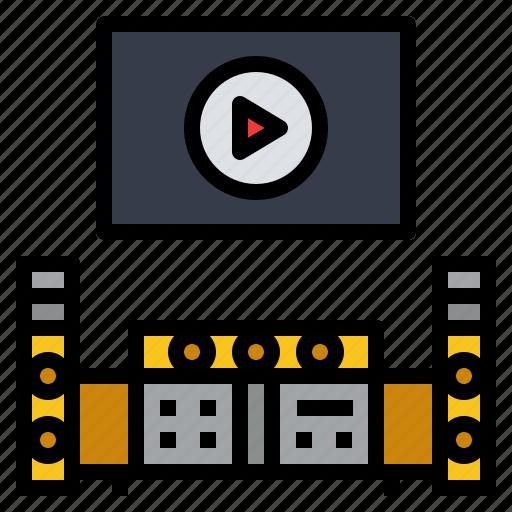 cinema, entertainment, home, movie, theater icon