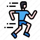 exercise, jogging, marathon, run, runner icon
