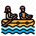 canoe, competition, kayak, rafting, sports icon
