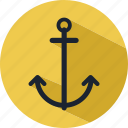 anchor, holiday, ship, tourist, travel icon
