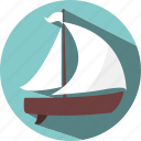 boat, holiday, ship, tourist, travel icon