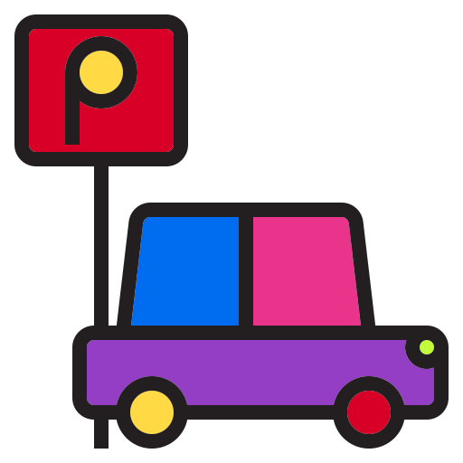 car, holiday, holidays, hotel, park, winter icon