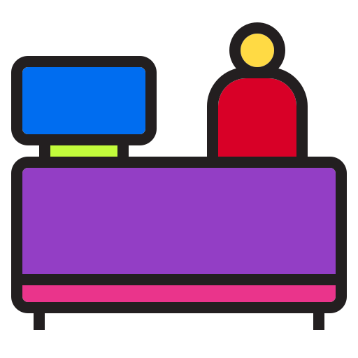 architecture, building, car, couter, holiday, hotel, service icon